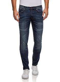 Vaquero elástico de hombre, skinny/slim fit, 98% algodón y 2% elástico, talla de cintura 58a 50