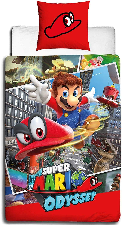 Nintendo cama infantil · Super Mario Odyssey · Reversible Diseño ...