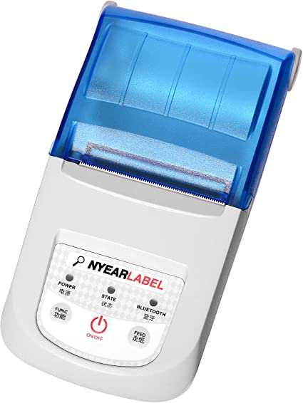 NYEAR58-10 mm (Ajustar) Impresora de Recibos portátil, Mini ...