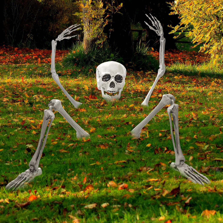 Creepy Graveyard Halloween Décor Ground Breaker Skeleton for Halloween Decorations by Prextex