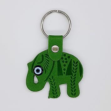 Amazon.com: Llavero de elefante verde, llavero de ojo ...