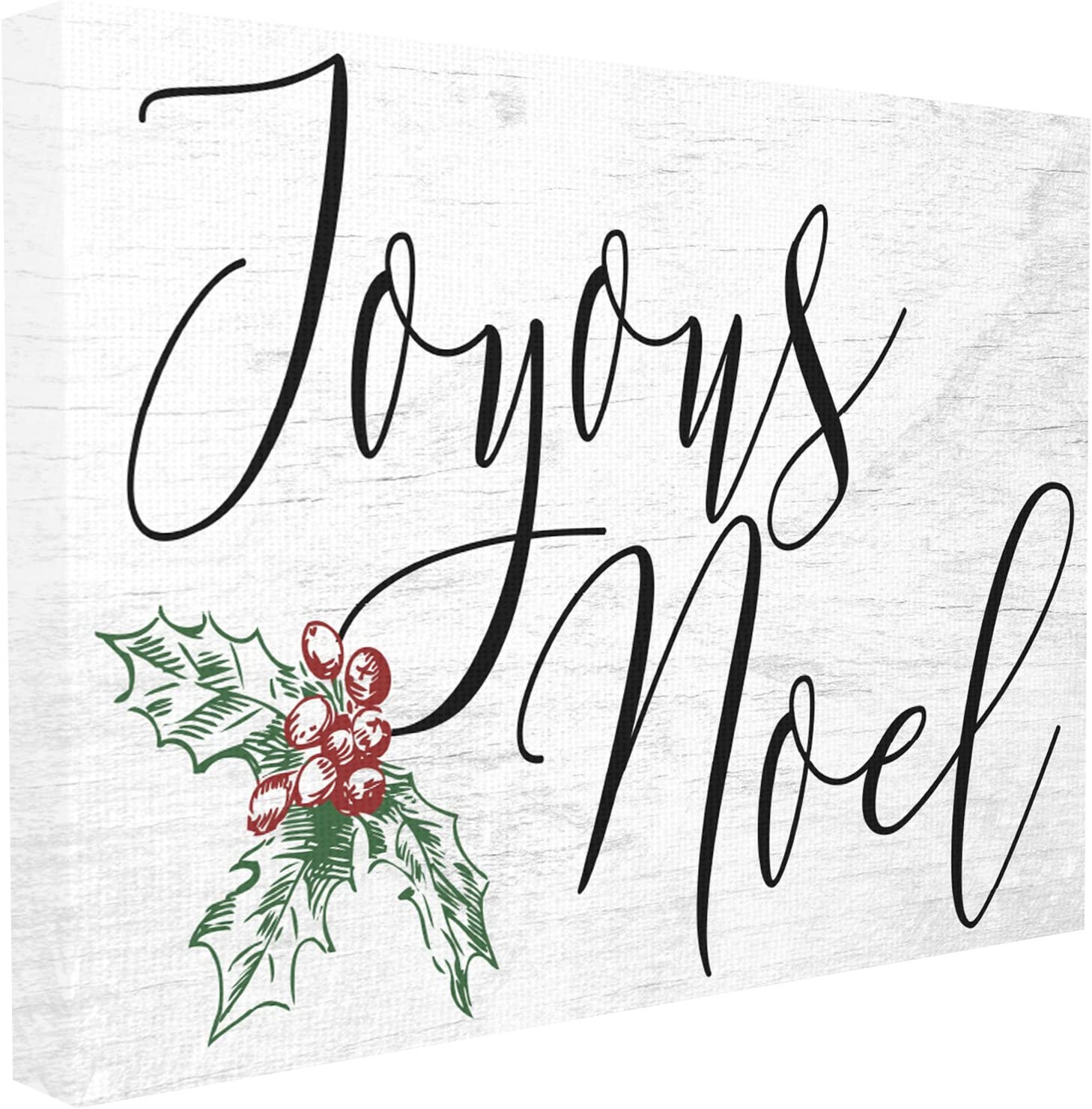 Stupell Industries Joyous Noel Christmas Canvas Wall Art, 16 x 20, Multi-Color