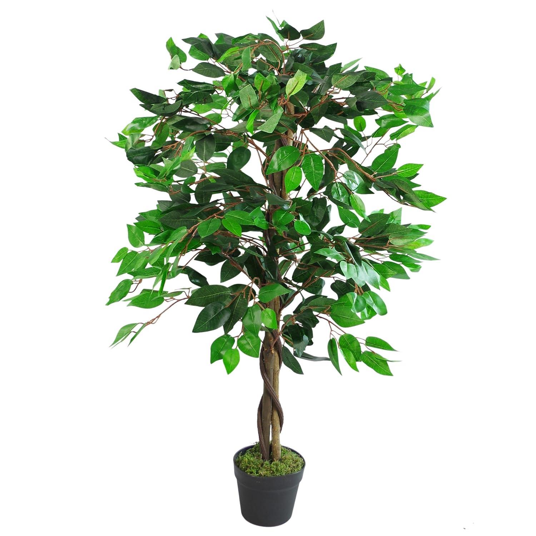 110cm Large Artificial Bushy Ficus Tree LeafUK