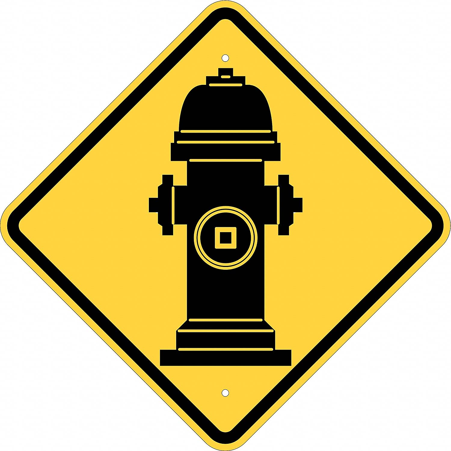 LegendNo Parking Fire Hydrant 12 Width Brady 124332 Traffic Control Sign Red on White 18 Height