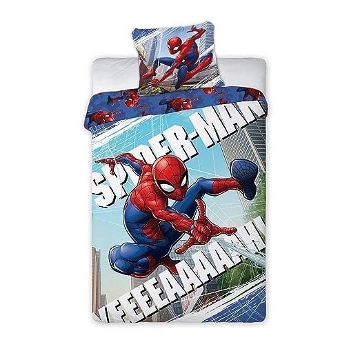Spiderman Maxi & Mini Juego de Cama 100% algodón, Funda de edredón ...