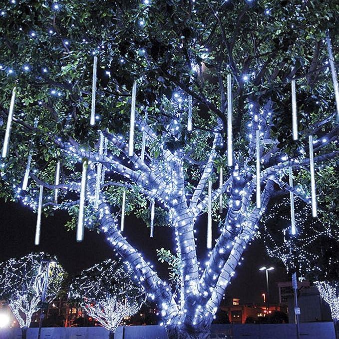 LED Meteor Shower Rain Lights, 50cm 8 Tubes 288 Leds,Drop Falling ...