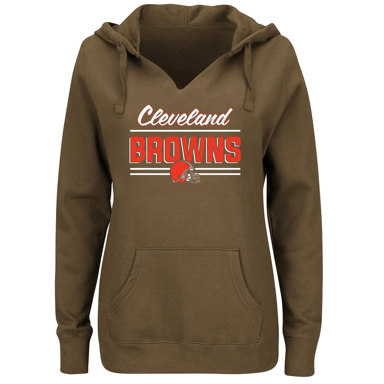 NFL Womens Browns Fleece Pull Over Notch Hoo