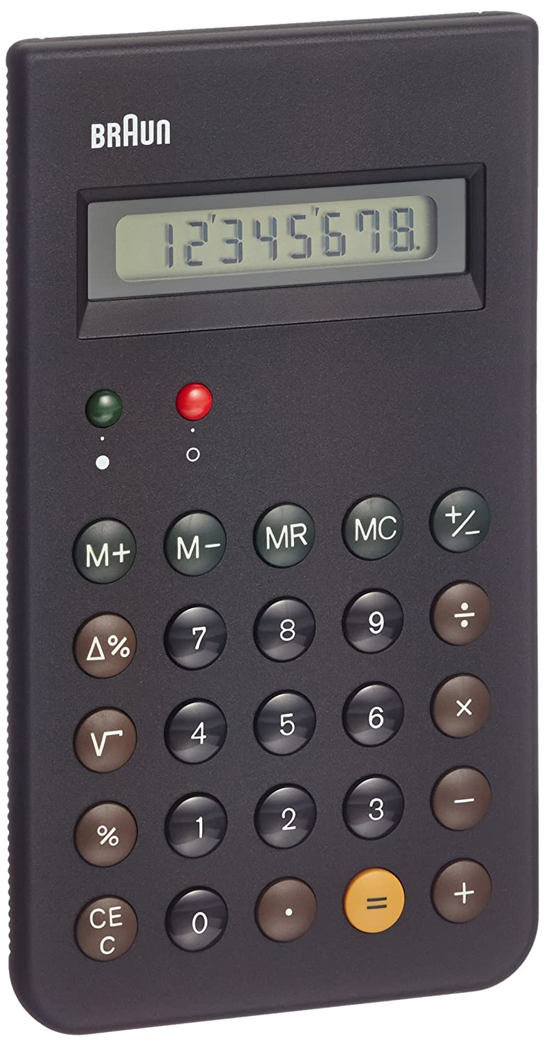 Braun BNE001BK (Reissue of the Braun ET66 Calculator), Black BNE001BK_NERO