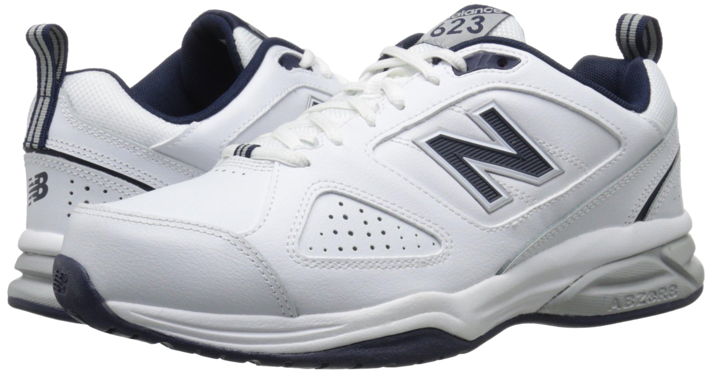 New Balance Men's MX623v3 Casual Comfort Training Shoe,  White/Navy, 8 M US by New Balance (Image #6)