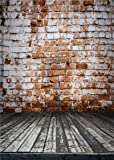 Qian Vintage Brick Wall Photography Background Vinyl Photo Backdrops Studio Props 5x7ft qx069