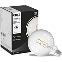 Calex Smart Home - Wifi Led lamp - Globe Helder glas - Ø125mm - White ambience - E27 fitting