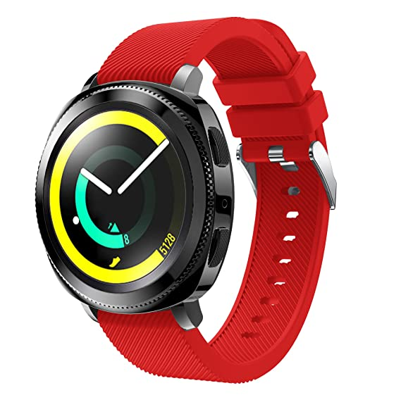 Amazon.com: Gear Sport/Gear S2 Classic Band, 20mm Silicone ...