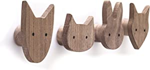 Woodland Nursery Decor for Boys - Kids Coat Hooks - Nursery Coat Hooks - Fox Coat Hook