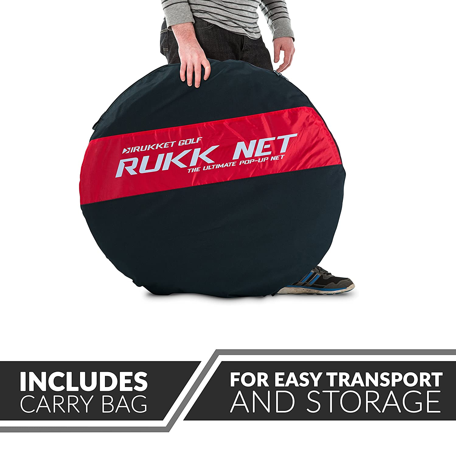 amazon com rukket 10x7ft pop up golf net orginal rukknet