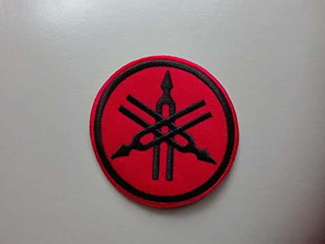 Patch Yamaha Red Black Round Rund Patch Iron On Aufnäher Bügelbild Küche Haushalt