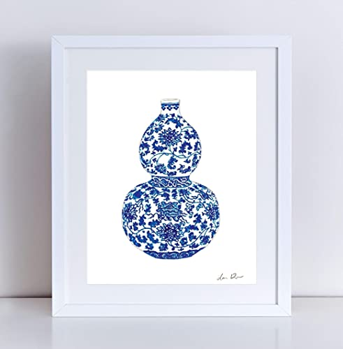 c8048716064 Blue and White Ginger Jar 2 Giclee Art Print Watercolor Painting Wall Home  Decor China Gourd Vase Chinoiserie Chic Chinois Southern Style Chinese  Asian ...