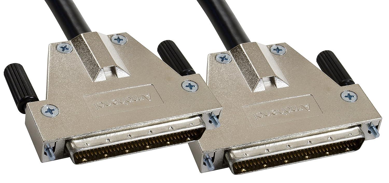 Amphenol CS-SCSI3DB680-000.5 SCSI-3 LVD/SE Ultra3 SCSI Cable, HD68 Male/Male, 0.5 m, 1.6', Black 1.6'