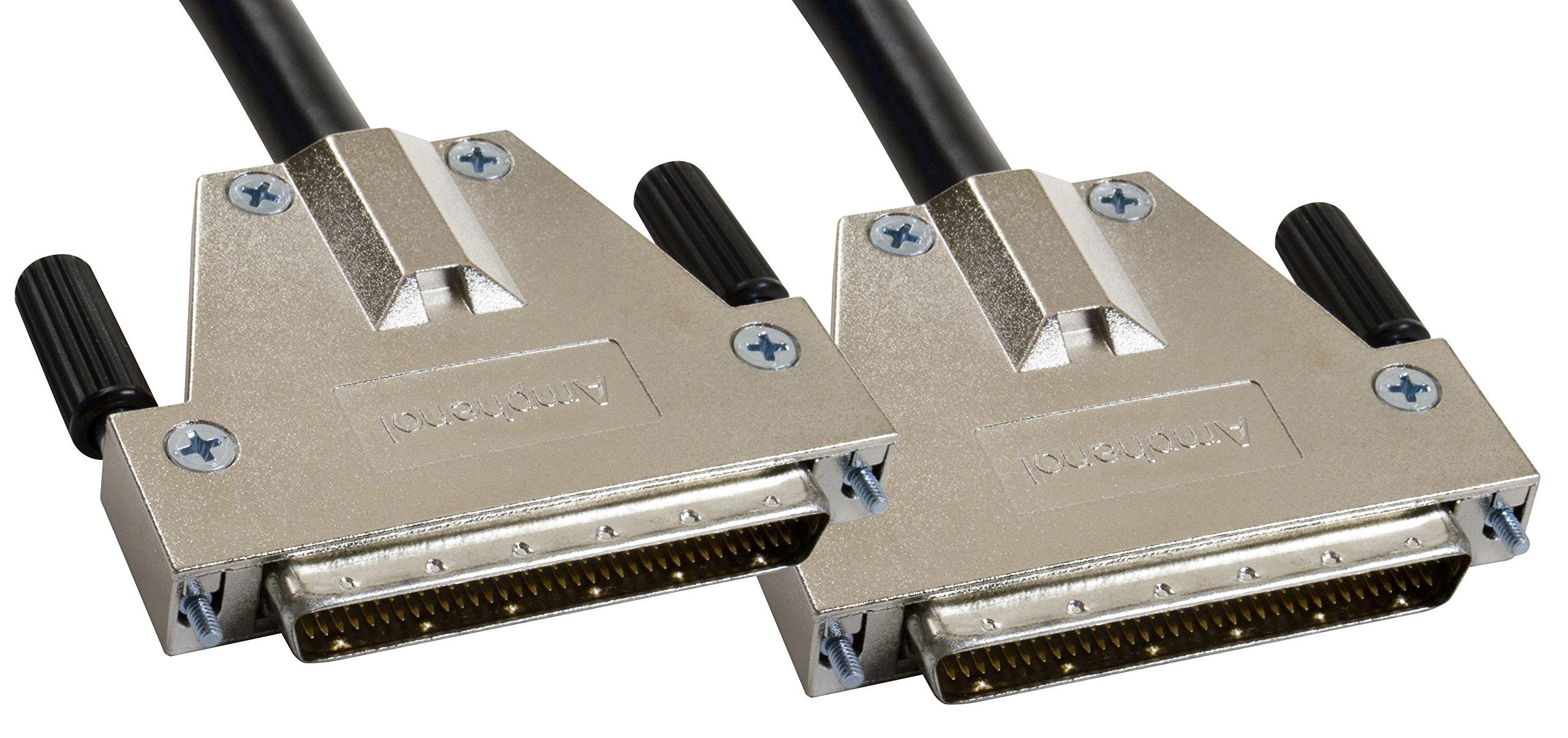 Amphenol CS-SCSI3DB680-000.5 SCSI-3 LVD/SE Ultra3 SCSI Cable, HD68 Male/Male, 0.5 m, 1.6', Black by Amphenol