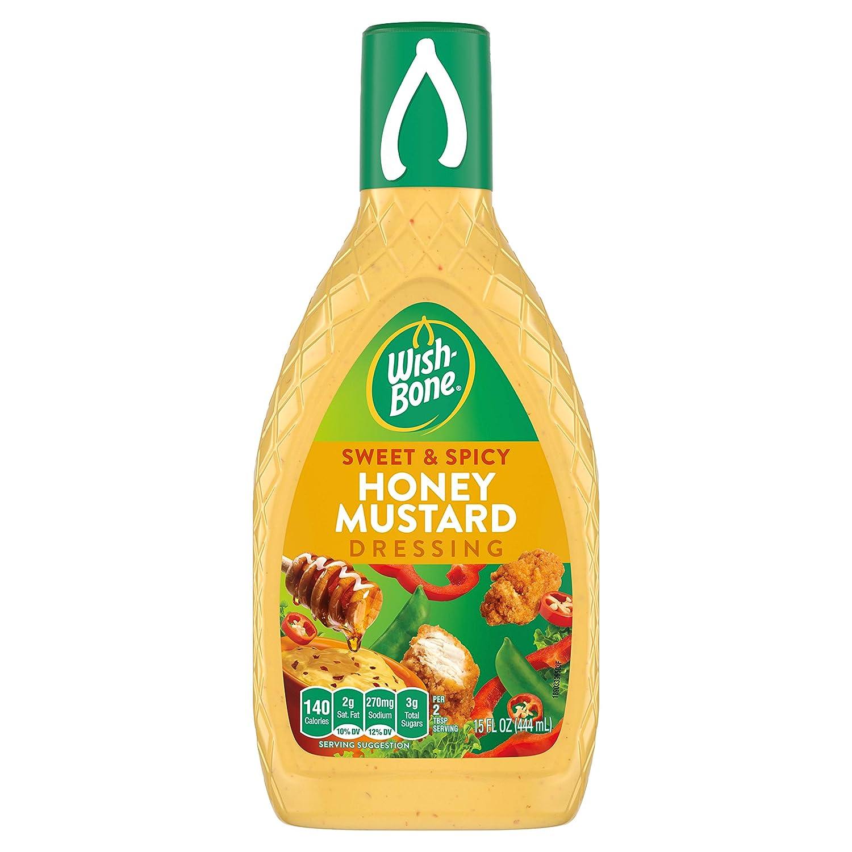 Wish-Bone Salad Dressing, Sweet & Spicy Honey Mustard, 15 oz
