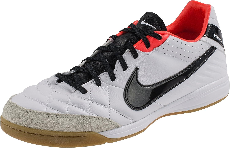 Noticias de última hora Propuesta columpio  Amazon.com | Nike Men's NIKE TIEMPO MYSTIC IV IC INDOOR SOCCER SHOES 8 Men  US (WHITE/BLACK/TOTAL CRIMSON) | Soccer