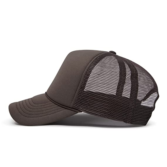 36299043bd10e DALIX Mens Blank Trucker Cap Mesh Hats Brown at Amazon Men's Clothing store:  Novelty Baseball Caps
