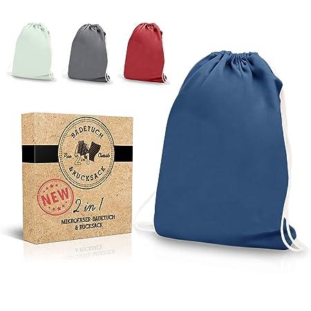 PRO OUTSIDE Sportbag Damen & Mirkofaser Handtuch 2 in 1 I 160 x 80 cm in 4 Farben I Turnsack BZW. Sportsack Mädchen inklusive