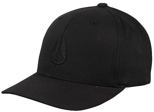 e21de888716 Amazon.com  NIXON Men s Wings Snapback Hat All Black One Size  Clothing
