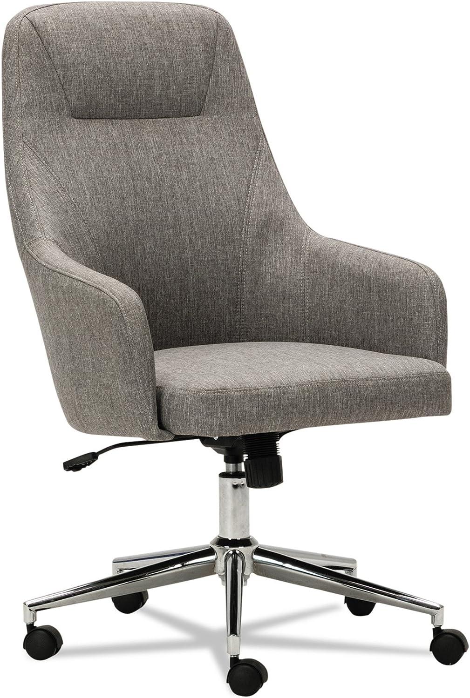 Alera ALECS4151 Captain Series High-Back Chair, Gray Tweed