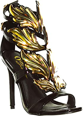 Black And Gold Heels Cheap