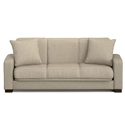 Amazon Com Handy Living Puebla Convert A Couch In Barley Tan Linen