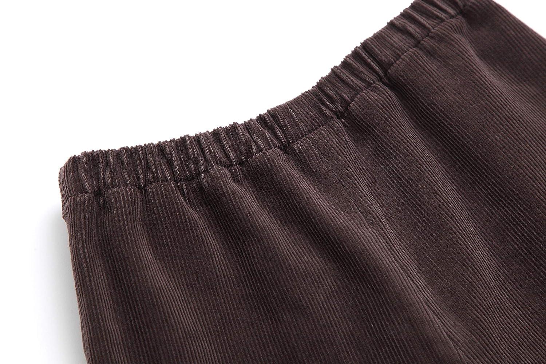 Comfortable Mint, Brown // Soft PLAYCLOUD Pocket Corduroy Pants Wide-fit /…