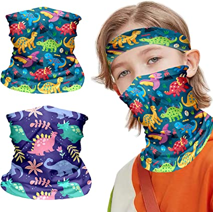 Neck Gaiter for Kids Face Covering Childrens Face Scarf Bandana Headband Summer Protection