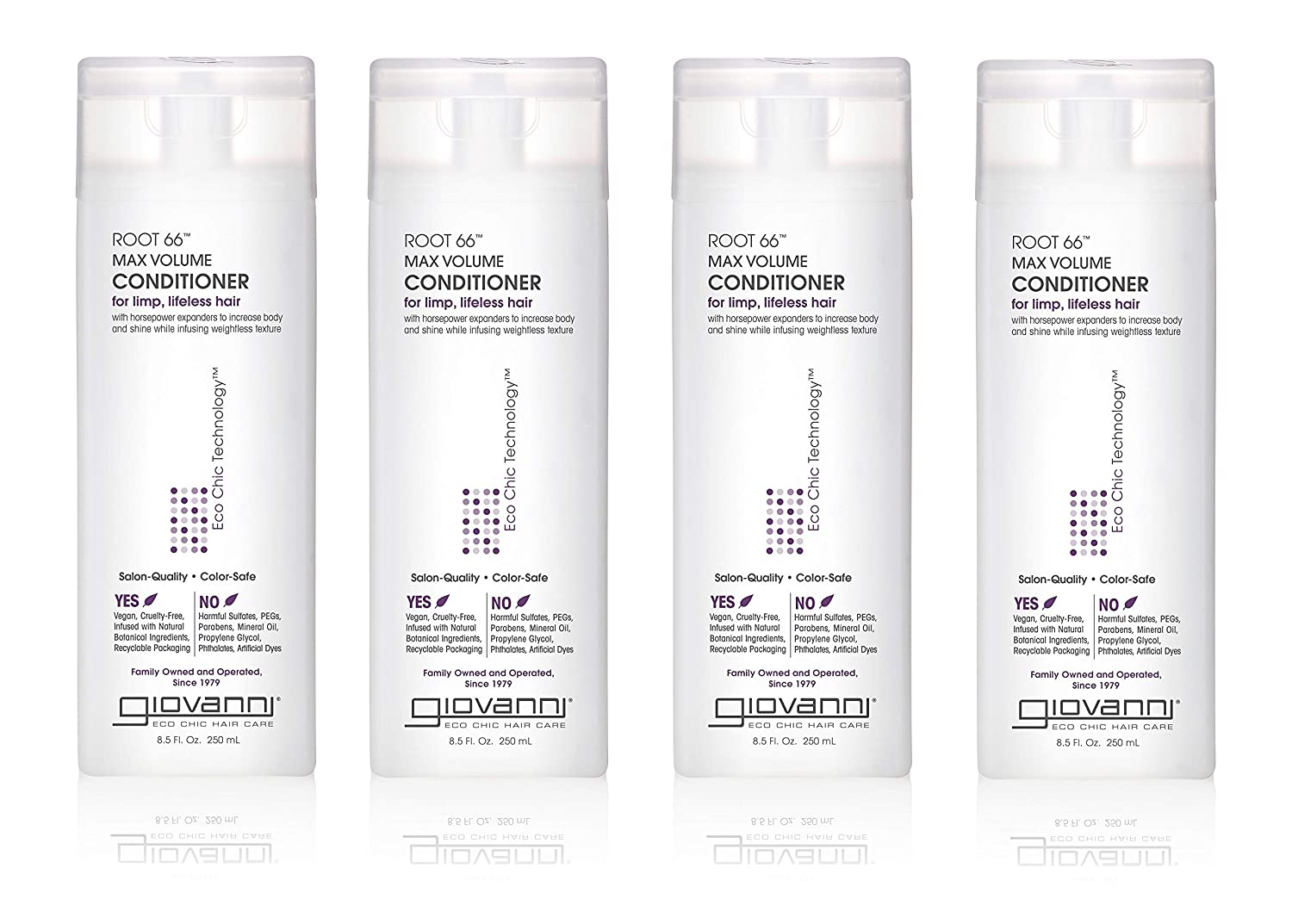 Giovanni Root 66 Max Volume Conditioner, 8.5-Ounce (Pack of 4)