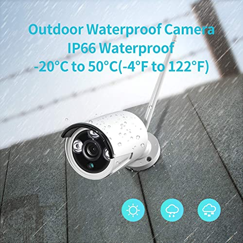 HeimVision CA01 Security Camera, Only Compatible with HeimVision HM241 HM243 8CH Security Camera System, 1080P 2.0MP Bullet Surveillance Cameras, Waterproof Outdoor Indoor IP Camera with Night Vision