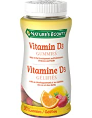 Nature's Bounty Vitamin D3 Mineral Supplement, Helps Support Bone Health, 90 Gummies