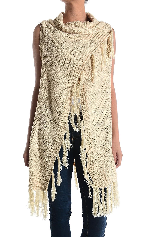 Basico Women's Solid Knit Shrug Cardigan Sweater Vest (Vest 118 ...