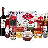 Cesta Gourmet Especial Navidad - 10 Produtos y Cesta - Con Vino Tinto DOC Región Duero