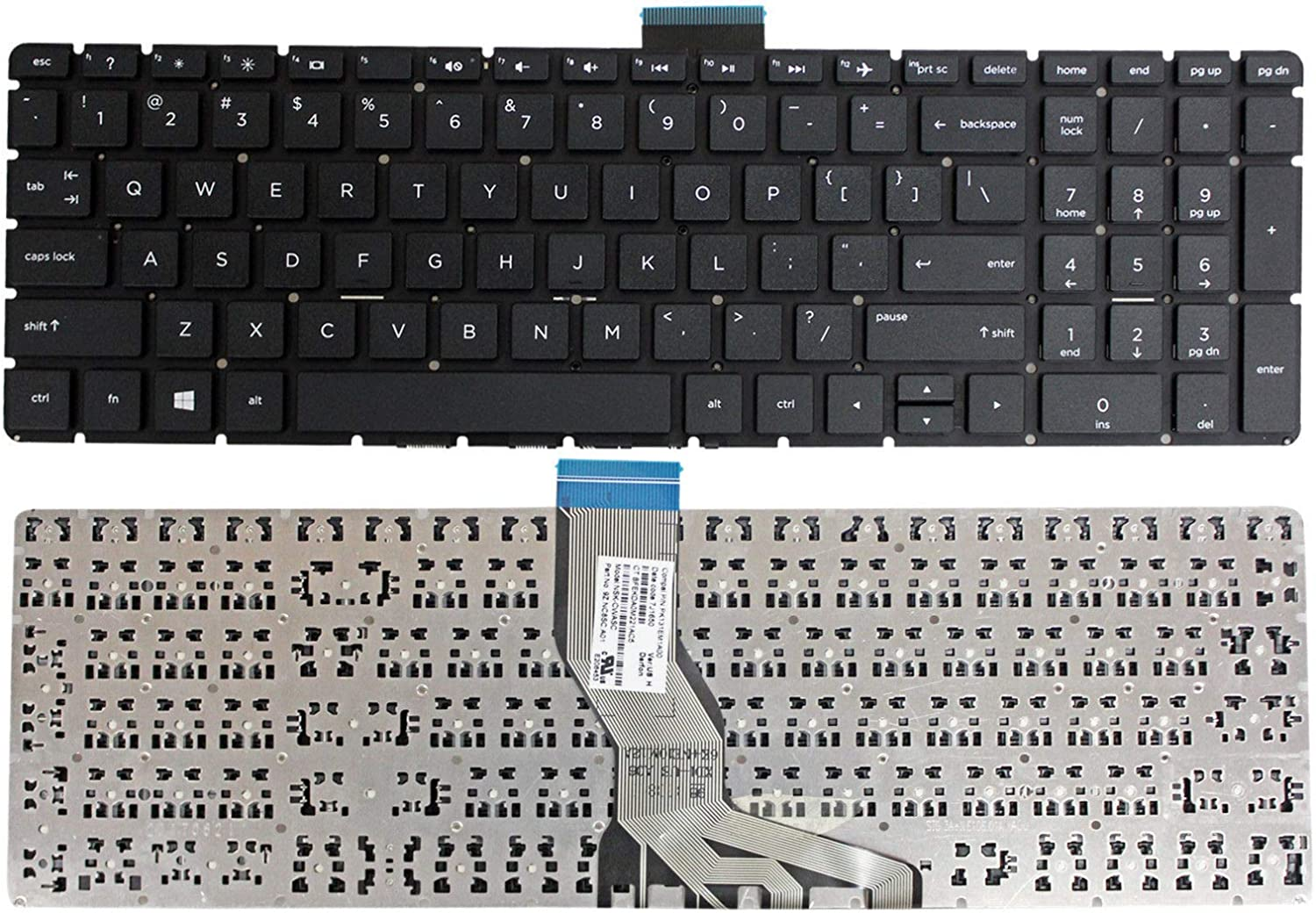 Givwizd Laptop Replacement Non-Backlit Keyboard for HP 17-by0007nm 17-by0007ns 17-by0007nv 17-by0007TX 17-by0007ur 17-BY0008CA 17-BY0008CY 17-by0008nf 17-by0008ng US Layout Silver Color