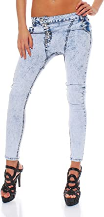 10442 Fashion 4young Mujer Pantalones Vaqueros De Color Azul Claro Tubo Jeans Haren Pantalon Tubo Pantalon Vaquero Para Mujer Azul Claro L 42 Amazon Es Ropa Y Accesorios