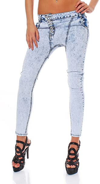 10442 Fashion 4young Mujer Pantalones vaqueros de color azul ...
