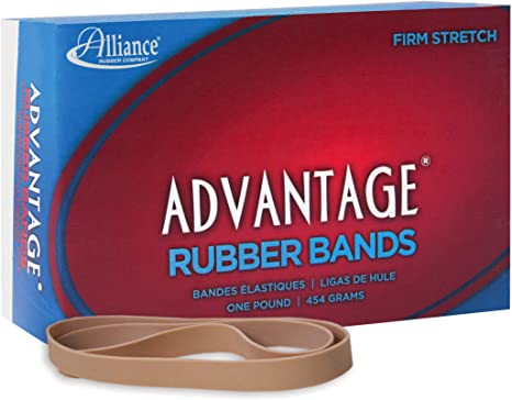"""7/""""x5//8/"""" Approx 40//BX 27075 Alliance Rubber Bands Size 107 1 lb"""