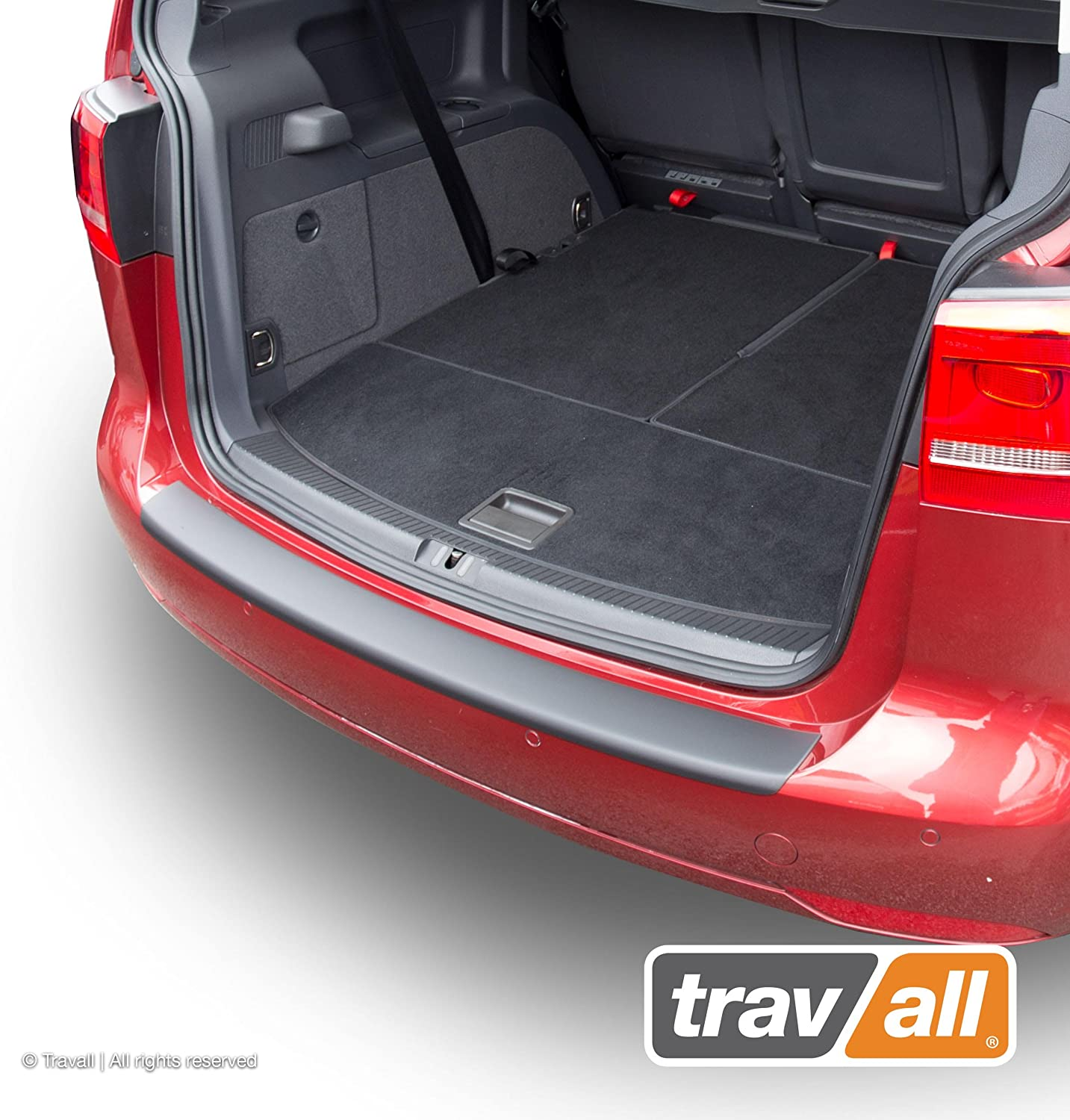Vehicle-Specific Black Plastic Moulded Rear Bumper Protector Travall Protector TBP1010P Smooth