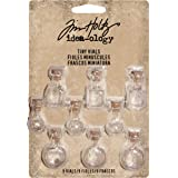 Tiny Glass Vials by Tim Holtz Idea-ology, Pack of 9, Assorted Sizes, TH93201
