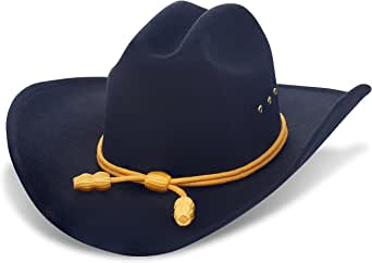 Western Cowboy Hat - Cattleman's with Cavalry Band - Black