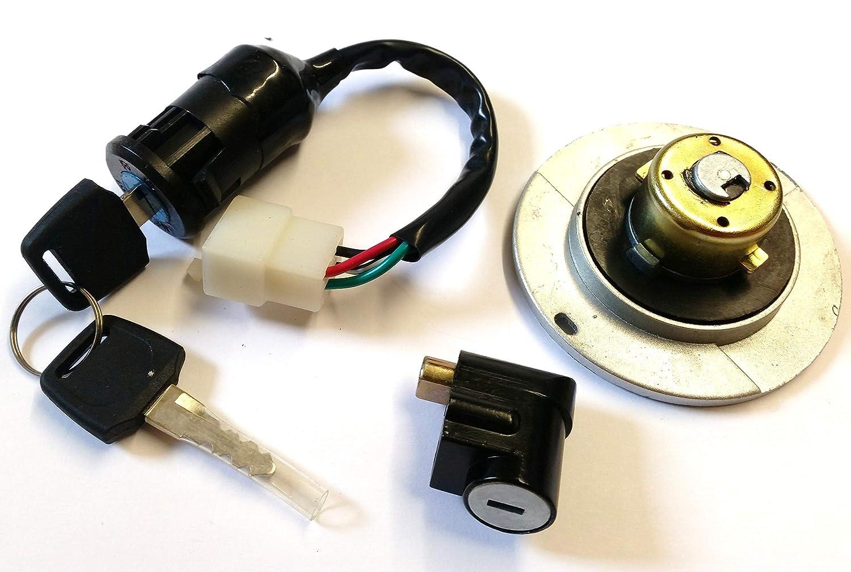 with Keys Orange Imports Ltd FC002 Bashan Fuel Cap Ignition and Steering Lock