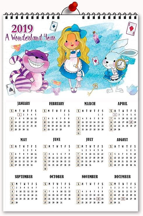 Tamatina 2019 Calendario Princesa Calendario de Pared 2019 ...