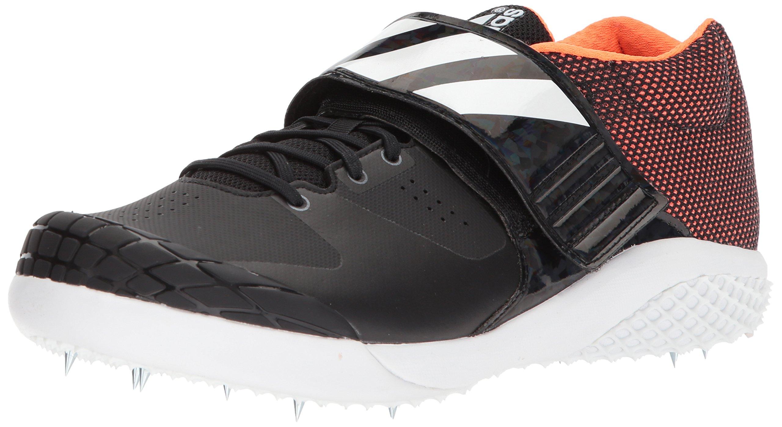 adidas Adizero Javelin Running Shoe, Core Black, FTWR White, Orange, 15 M US