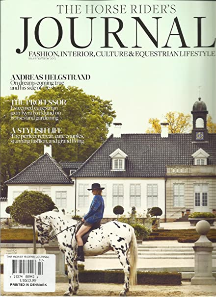 Amazon.com: THE HORSE RIDER\'S JOURNAL, WINTER, 2013 (FASHION ...