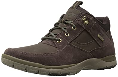 Rockport Men's Kingstin Waterproof Mid Winter Boot, Dark Brown, ...