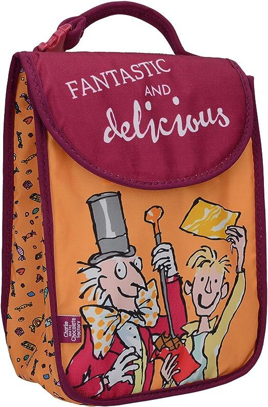 Creative Tops Roald Dahl Insulated Kids Cool Bolsa de Almuerzo con Charlie y la f/ábrica de Chocolate Ilustraciones poli/éster Naranja//Rojo 19,8/x 9,4/x 27,4/cm